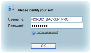 Login to website to download Nordic Backup Pro