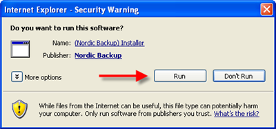 Click Run, Yes, Agree or I know where this software came from